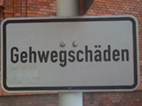 Hinweisschild in Berlin