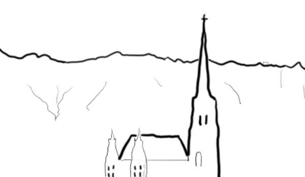 Wiener Kirche vor Nordkette
