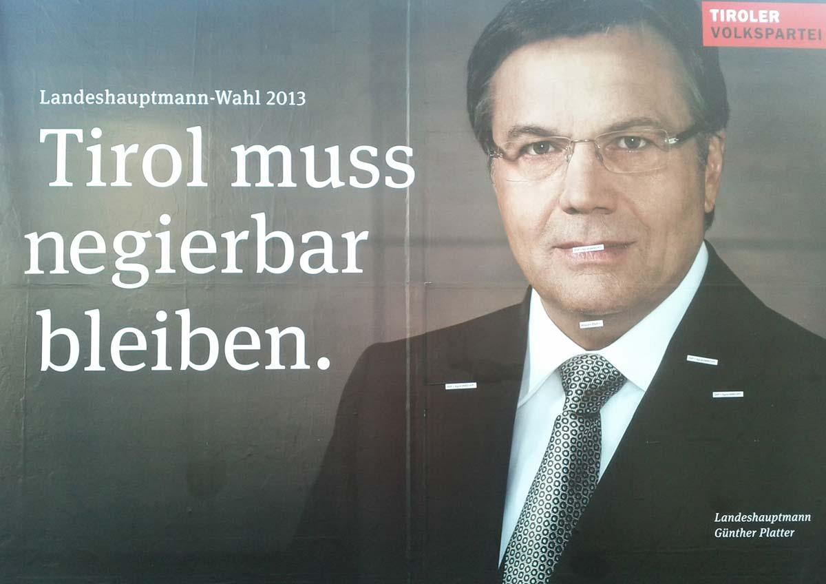 Wahlwerbung in Tirol 1