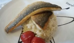 Fisch mit Spargelrisotto