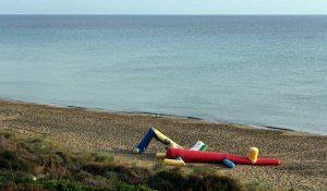 Strand mit (noch) Meer