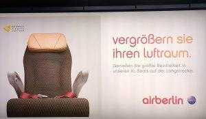 Werbung von airberlin nach dem Ende von airberlin