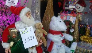 Ausverkauf des Weihnachtsmannes